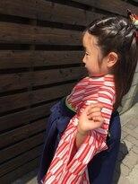 ヘアーアンドメイクサロン ハナココ(hair&make salon hana Coco)7歳お子様のヘアセット 袴着付け