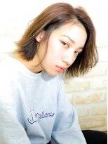 ジュイル シブヤ(JEWIL SHIBUYA)「Noz渋谷」中島良太 透明感切りっぱなしボブ