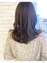 ロンドプランタン 恵比寿(Lond Printemps)ダークブラウン 透明感カラー カジュアルミディアムヘア