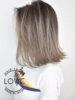 ルーヴェ(LOWE)【LOWE池谷】外国人風バレイヤージュと大人ボブのラフスタイル
