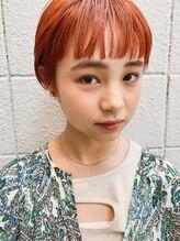 バディヘア アムル(BUDDY HAIR amour)オレンジカラーオン眉ショート