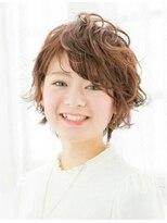 ベルノ オブヘアメイク(VERNO OF HAIR&MAKE)女度UP!!エアリーショートボブ×ラベンダーブラウン