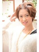 【miel hair bijoux】ショート前髪ツイストアレンジ