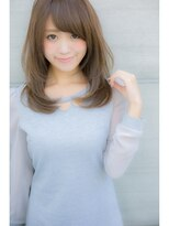 【Euphoria】髪の毛を柔らかくミルクティーカラー☆姫カット