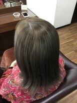 アールピクシー(Hair Work's r.Pixy)グレージュカラー×ミディアム