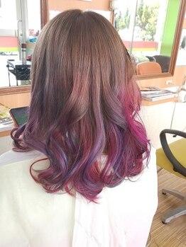 美容室ポケットの写真/周りと差がつくオシャレ髪♪人気のダブルカラーが¥14000でできちゃう!理想の髪色を教えてください☆
