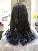 ヘアーサロンデフォーエバー(hairsalon de Forever)毛先グラデーションカラー×鬼滅の刃カラー
