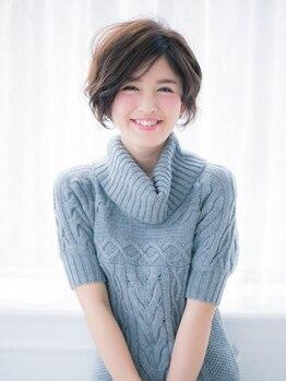 ヘアサロン リリィ(hair salon riri)の写真/綺麗なシルエットで今旬スタイルの大人で上品な、褒められショートに♪