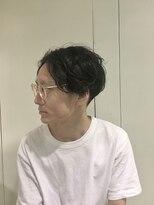 ピエドプールポッシュ(PiED DE POULE POCHE)前髪長めメンズショート