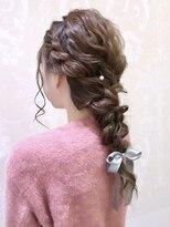 結婚式編み込みヘア