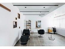 アトリエ オーツー(atelier O+O)の雰囲気(セット面一脚、シャンプー台一台のマンツーマンサロンです☆)