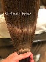 オハナ(ohana)大人可愛いカーキベージュカラー ■ 表参道 青山 髪質改善 ■