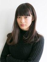ソーコ(SOCO)【SOCO】ノームコア厚めバング☆耳かけ黒髪ピュアセミロング