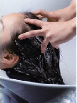 ヘアー エムアールエム(hair MRM)の写真/見てこのツヤ!!オーガニックにこだわったダメージレスカラー!!髪の芯に潤いを与えきらめく髪に☆