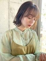 エムクランメイクス 原宿 表参道(m.clan MAKE'S)【松尾】 大人かわいい 外ハネボブ 透明感カラー ココアブラウン
