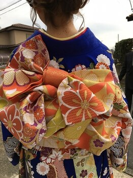 マコ(MACO)の写真/浴衣~振袖まで、和服のお仕度承ります♪バリエーション豊富でかわいい帯結びが自慢◎お任せください!