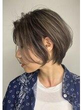 バベル(BABEL Hair Design)【BABEL】ショートボブ_耳かけアッシュブラウン
