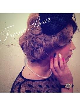 結婚式の髪型(レトロヘアアレンジ) フランベアー(Franc Bear)60,s TIME TRIP CLASSICAL UP