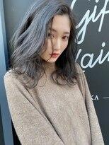 ギフヘアー 梅田茶屋町店(gif.hair)シルバーグレージュ ラフウェーブ 【2月】