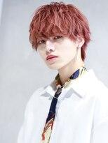 リップス 渋谷(LIPPS)韓流赤髪マッシュウルフ