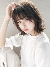 エレノア トーキョウー(ELEANOAH TOKYO)薄めバングボブ大人かわいい前髪ココアブラウンフリンジウェーブ
