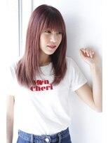 【Velis】ピンク系カラーで甘辛レイヤースタイル