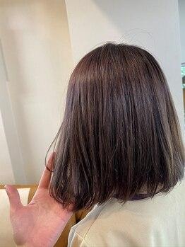 """ランプ オブ ヘアー(LAMP of hair)の写真/【髪に優しいオーガニックカラー使用♪】ダメージが気になる方でも、""""なりたい色味""""に導いてくれる★"""
