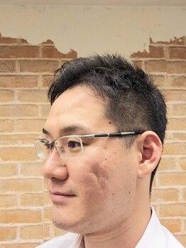 ヘアーランジコーンの写真/【カット+眉毛デザインシェービング¥4950】肩の力を抜いてゆったり寛げる安心空間で清潔感のあるスタイルに