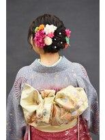 ベル(BELL)お花とパールのコンビが可愛い☆成人式 【BELL桜新町/用賀】