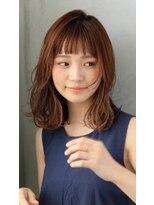 パークサイドジュン(Parkside June)小顔ミディアムレイヤー/ハイライトインナーカラー