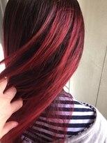 ヘアーメイク プリュム(Hair make Plume)ビビットRED