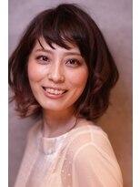 ヘアー アンド リラクゼーション スズ 祐天寺店(suzu)小顔ミディアムパーマ【祐天寺】