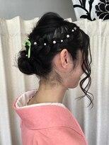 ヘアーアンドメイクサロン ハナココ(hair&make salon hana Coco)袴着付けパールアップ