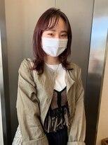 ストア バイ アンバースデー(Store by UNBIRTHDAY)レッドブラウン/シースルーバング【新田知鶴】