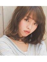 アイナ 銀座(Aina)透け感が可愛いグレージュカラー×パーマ【Aina伊藤彩】
