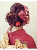 ヘアメイク オブジェ(hair make objet)大人可愛いアップスタイル
