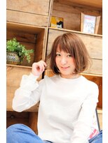 ヘアーメイク アフィーノ(hair make affino)[affino大宮]ショートバングボブ