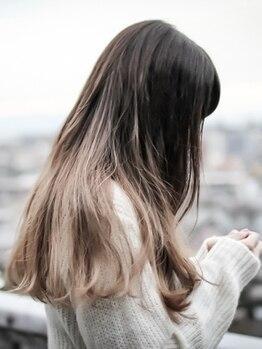 フラワード(flowered)の写真/【早朝~受付可★高城のピンクのベンチサロン】大人気の外国人風グレージュカラーがfloweredで叶う♪