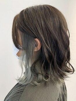 マインズリノ(MINDS LINO)の写真/最新トレンド★マンネリしたStyleを華やかにしてくれるインナーカラー*前髪や顔周りに入れるとお洒落度UP◎
