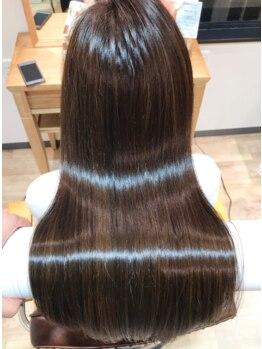 ハクヘアー(HAK hair)の写真/厳選した薬剤を使用しダメージレスな仕上がりに♪自然で柔らかい手触りのツヤ髪になれる!!