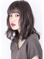 ヘアサロン ガリカ 表参道(hair salon Gallica)『 グレージュ & 毛束感 』 ナチュラル ひし形シルエットロブ☆
