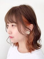 【千葉】インナーカラーオレンジ