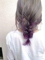 マイ ヘア デザイン(MY hair design)ホワイティアッシュ裾パープルカラー