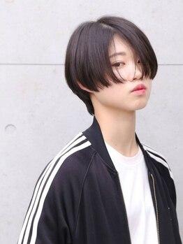 ヘアーメイク アディクト(HAIR MAKE addict)の写真/乾かすだけでまとまるカット技術でキレイ長続き♪大人可愛いショートスタイルなら《addict》にオマカセ☆