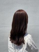 【オレンジブラウン】ブリーチなしで韓国風艶カラー10代20代