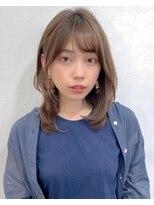 リコ(riko)【riko荒木】耳かけナチュラルストレートレイヤーココアブラウン