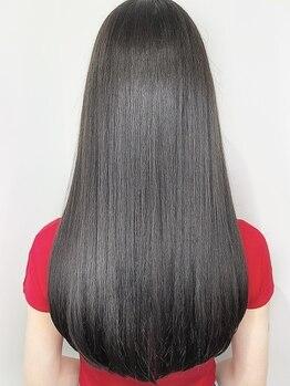 ステラ 天王寺あべの店(STELLA)の写真/【天王寺駅◆徒歩1分】前処理付きだからダメージレスに悩みを解消できて、サラサラストレートの美髪へー。