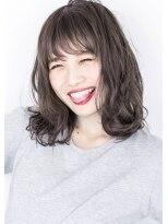 ヘアサロン ガリカ 表参道(hair salon Gallica)『 グレージュ & 毛束感 』ナチュラルひし形シルエットmedium☆