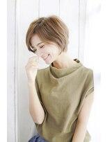 オン眉デザインカラー切りっぱなしボブ美髪マッシュウルフ/183