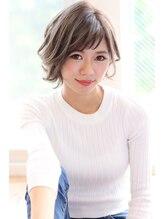 エイト新宿店(EIGHT shinjuku)【EIGHT shinjuku】外ハネ×ショートバング×ミルクティーカラー